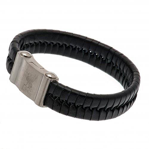 Official Liverpool FC Single Plait Leather Bracelet