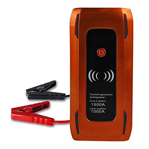 MEILINL 24000 mAh Multifunción Arrancador de Coche 2 USB 1500A Cargador de Batería de Automóvil Portátil Adecuado con Zona de inducción de Carga inalámbrica para teléfono móvil