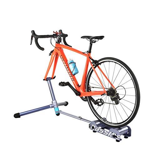 Hensdd Cubierta Soporte Entrenador De Bicicleta, 4 Nivel De Control De Velocidad De Transmisión Directa Ajustador Entrenador Inteligente, Rodillo Resistencia A Líquidos
