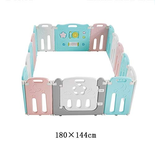 Great Features Of X/L Children's Playpen, Child Safety Fence, with Safety Lock Door, Lightweight Boa...