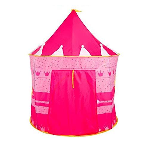 Yanqhua Tienda de Juegos Carpa casa casa Castillo rastreo de Interior de los niños Transpirable niños del lecho Mosquitera romántica (Color : Pink)