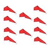 Amosfun Lot de 10 mini chapeaux de Noël pour bouteille de vin Motif Père Noël