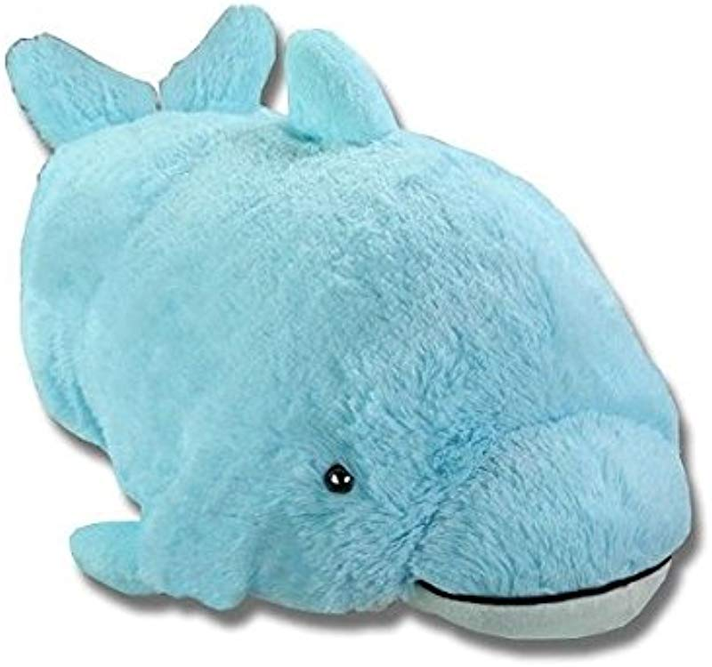 Pillow Pets Squeaky Dolphin Blue Small 11 Plush New