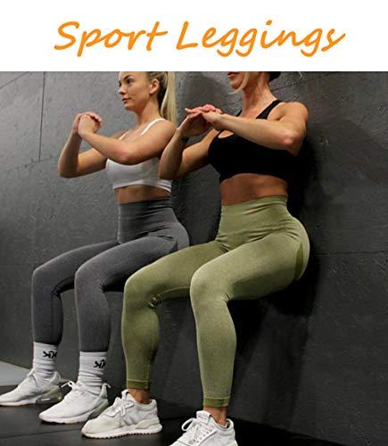 Lalamelon Leggins Deportivos Mujer Push up Mallas Pantalones Cintura Alta Yoga Leggings Pantalón Moda Sin Costuras para Fitness Running Deporte Elásticos y Transpirables
