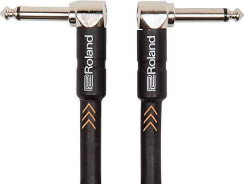 Cable de patch/pedal de la serie Black de Roland — Conectores de 1/4 de pulgada en ángulo recto, 30cm de longitud - RIC-B1AA