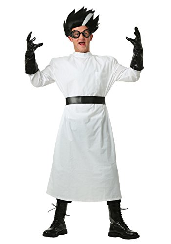 Adult Deluxe Mad Scientist Costume Large Black,White