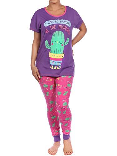 Harry Bear Pijama para Mujer Cactus Morado X-Small