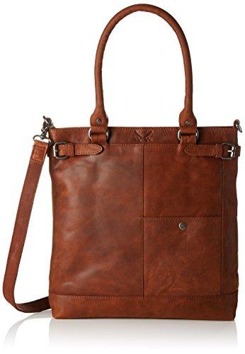 Sansibar Damen Shopper Bag Henkeltasche, Braun (Cognac), 7x35x33 cm