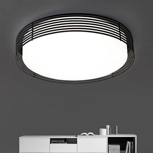 Moderne Simple Romantique Chaud Blanc Acrylique 3-couleur Plafond Plafonnier Creative Chambre Salon Balcon Éclairage Plafond Lampe (Couleur : Noir-58 * 58 * 10*CM LED 28W)