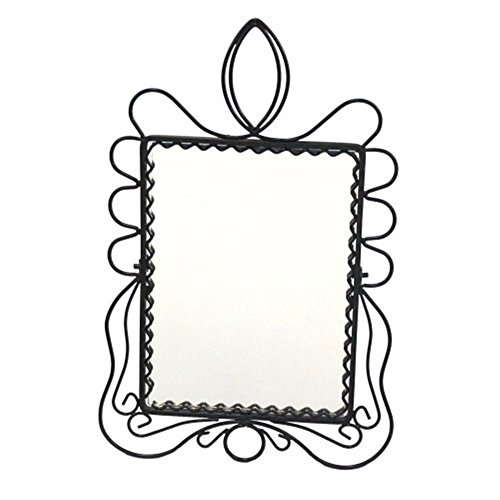 WanJiaMen'Shop Tabella Desktop a Specchio può Essere Appeso Specchio per Makeup Arte Ferro Specchio Antico comò Specchio cosmetico, i. 5 * 17cm