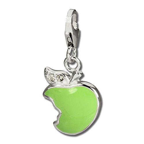 SilberDream Charm Schmuck 925 Echt Silber Anhänger grün Apfel Zirkonia FC678