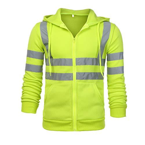 Suéter de los hombres reflectante tira de protección laboral ropa de los hombres de la felpa sudadera