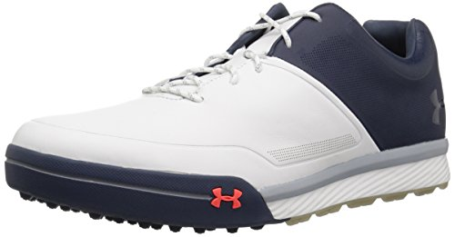Under Armour UA Tempo Hybrid 2, Zapatos de Golf Hombre, Blanco (White 100), 40.5 EU