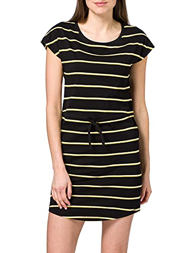 Only Onlmay S/S Dress Noos, Vestito Donna, Mehrfarbig (Black Stripes: Double Yolk Yellow/Cl. Dancer), 44 (Taglia produttore: M)