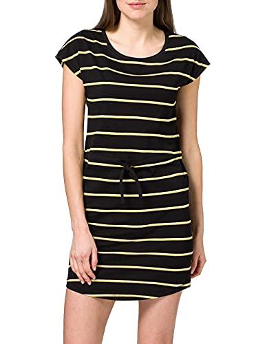 Only Onlmay S/S Dress Noos, Vestito Donna, Mehrfarbig (Black Stripes: Double Yolk Yellow/Cl. Dancer), 48 (Taglia produttore: XL)