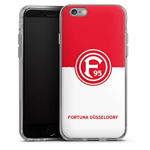 DeinDesign Silikon Hülle kompatibel mit Apple iPhone 6 Case transparent Handyhülle F95 Fortuna Düsseldorf Wappen