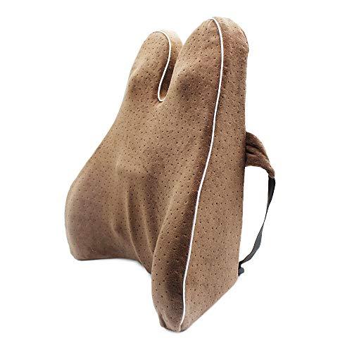 feilai Cojín de espuma viscoelástica para la cintura lumbar y el coxis, para proteger la columna vertebral, el coxis, ortopédico, asiento de coche, oficina, sofá, silla, respaldo (color: 6)