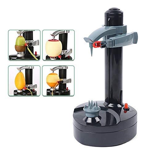 Peeler Electric Vegetable Peeler Automatic Rotating Potato Peeler for Kitchen (Black)
