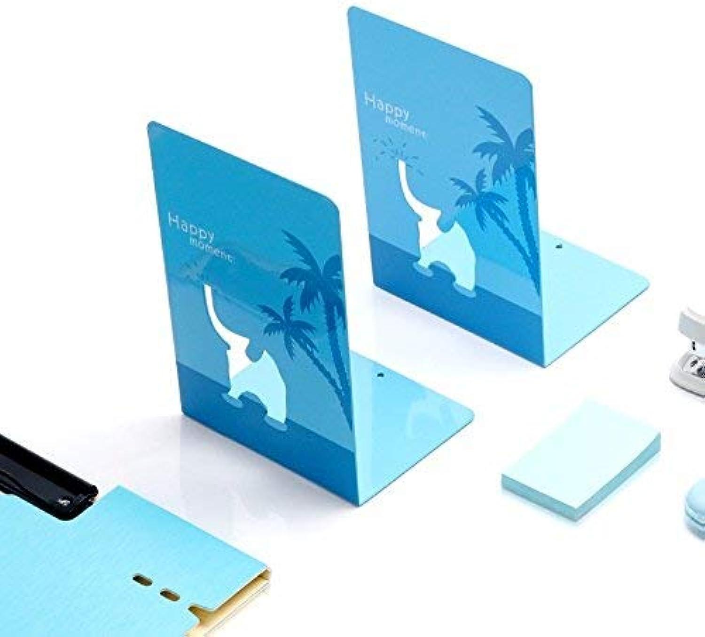 Bücherregal Buch Buch Buch Buch Buch Buch Unterstützung Metallrahmen Grünikale Schallwand Buchhalter Asche für ein Geschenk (Farbe   Blau) B07PTYRWYR | Preiszugeständnisse  f4cd32