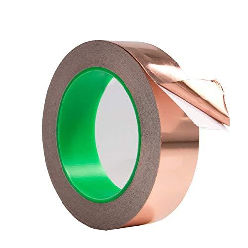 Cinta de aluminio de cobre con adhesivo conductor repelente, emiblindaje, vidrio tintado,...