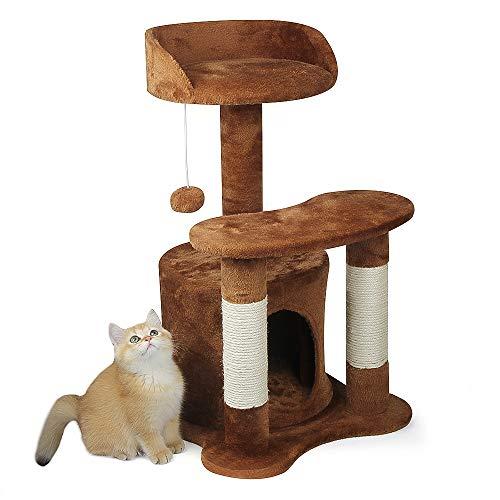 KORIMEFA Kratzbaum für Katzen, Farbe wählbar (braun)