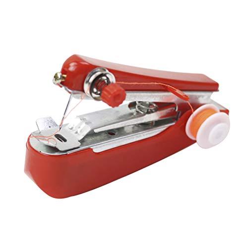 Vosarea Grapadora portátil de la máquina de coser de la máquina de coser de mano mini sin cuerda para el uso del viaje de la ropa de la tela