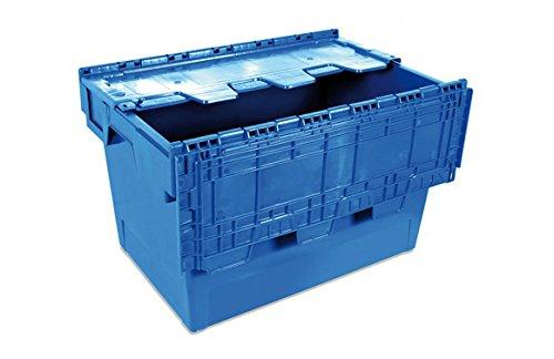 Tayg 6434-T Euro-caja con tapa para almacén y transporte, 600x400x340 mm
