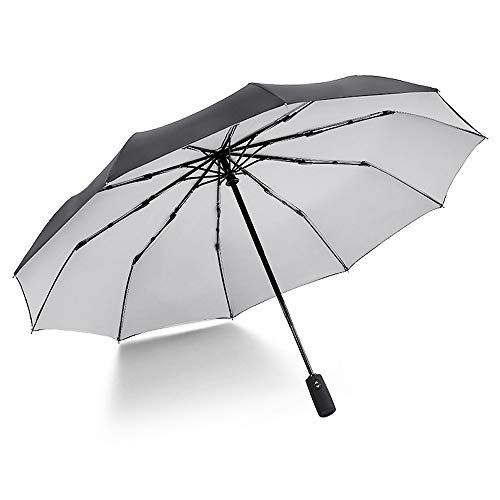 xinrongqu Übergroßer 10-Knochen-Doppelaußenschirm Für Sonnenschirme Automatischer Öffnungswindschutzschirm Grau 23