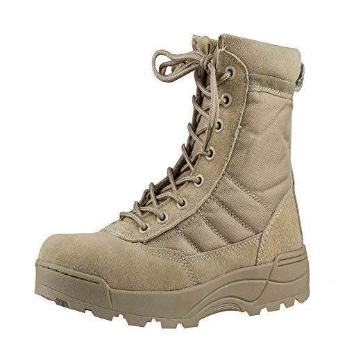 Gtagain Herren Militär Einsatz Schuhe - Desert Combat Boots Arbeits Berufsschuhe Taktik Sicherheit Knöchel Armee Leder Nicht gleiten