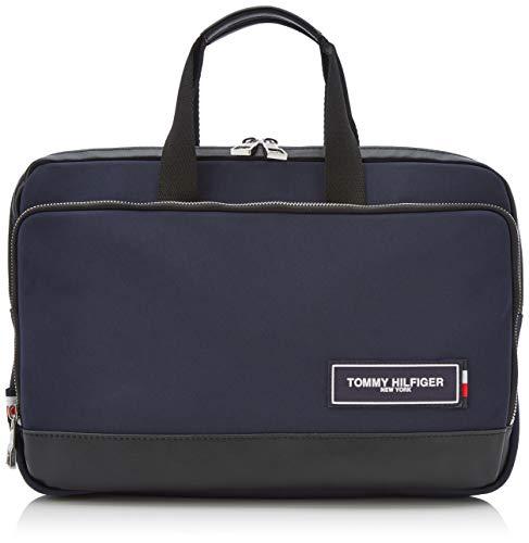 Tommy Hilfiger Herren Th Patch Slim Computer Bag Laptop Tasche Blau (Tommy Navy/Black)