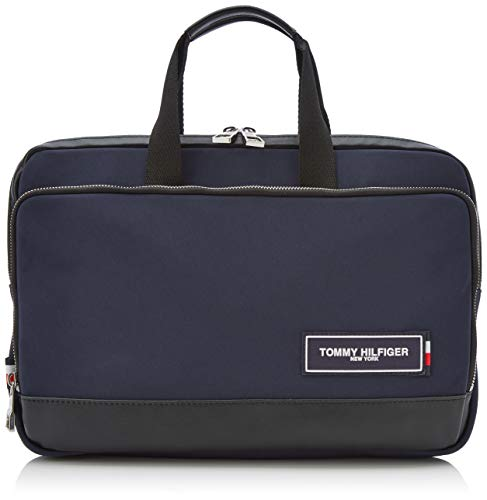 Tommy Hilfiger heren Th Patch Slim Computer Bag Laptop Bag, Blue (tommy navy/zwart), 5x26x38 cm
