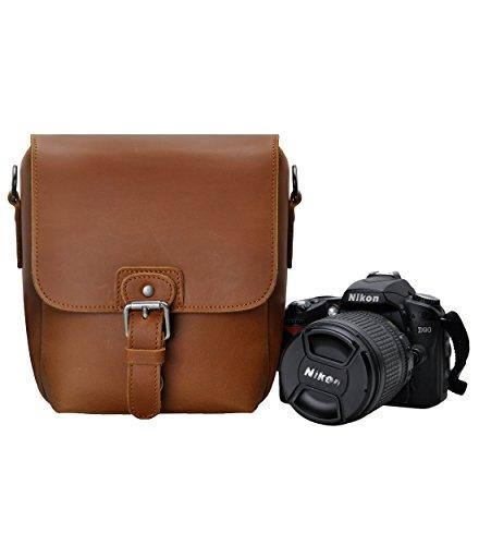ZLYC カメラバッグ 一眼レフバッグ 一眼レフケース 手作り 防水 レトロ 小さい DSLR適用