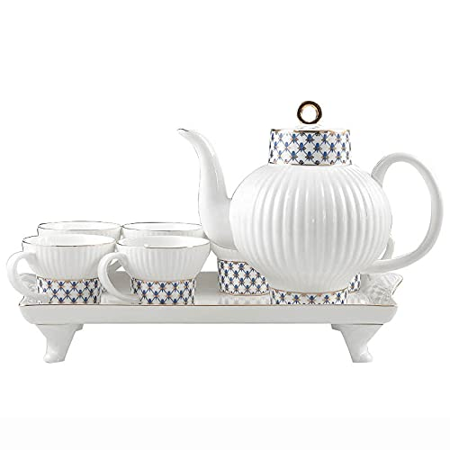 Porcelain Tea Sets For Adults Tea Set With Teapot Afternoon Tea Service Coffee Cups Set Porcelain Tea Cups Set With Tea Tray Best Gift