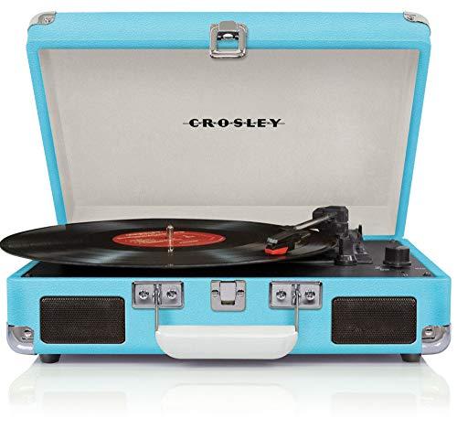 Crosley Cruiser Deluxe Plattenspieler (Plattenspieler per Gurt, Türkis, 33 1/3,45,78 RPM, DC Motor, Drehbar, Full Range)