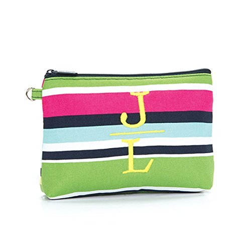 Thirty One Mini Zipper Pouch in Preppy Pop - No Monogram - 3013