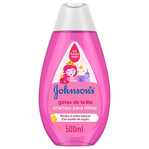 Johnson's Baby Gotas de Brillo Champú para Niños, Cabellos más Brillantes, Suaves y Sedosos - 500 ml