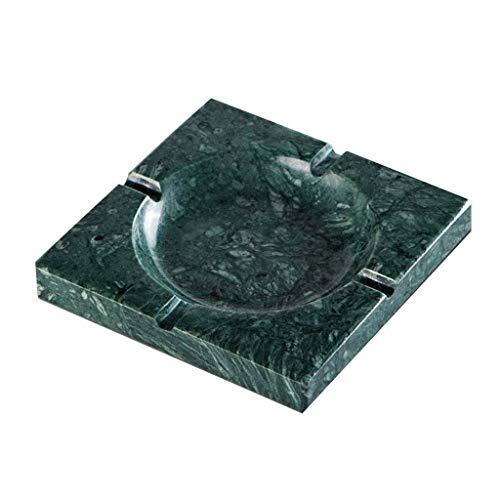 GZQDX gepersonaliseerd marmer vierkante sigaar asbak, woonkamer kantoor asbak tafelblad decoratie salontafel salontafel asbak