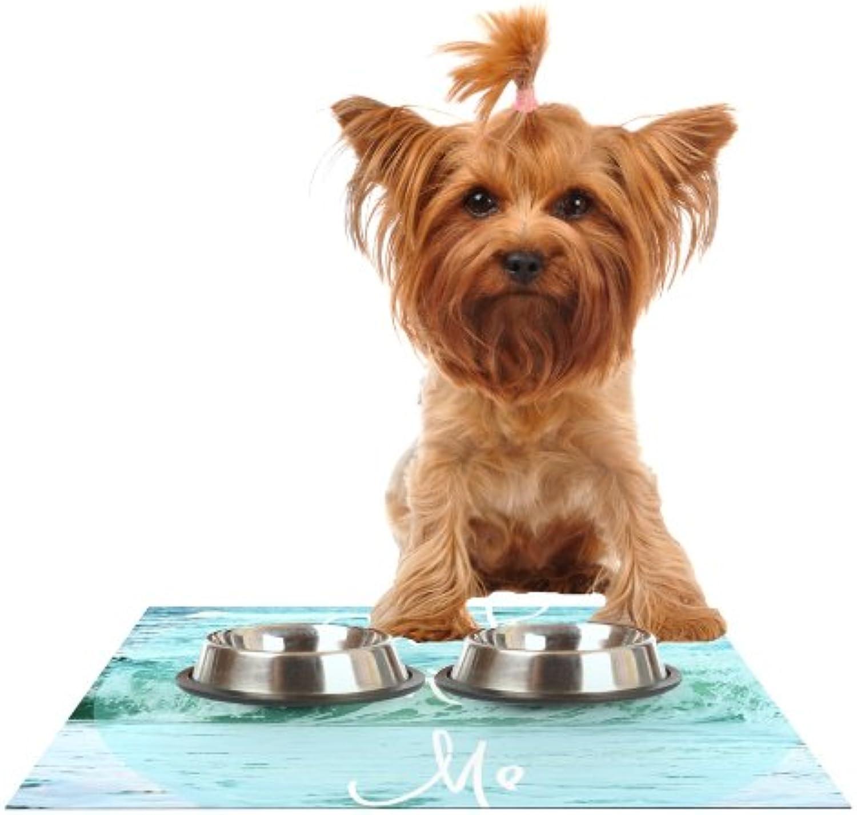 Kess InHouse Beth Engel Crash Into Me  Feeding Mat for Pet Bowl, 18 by 13