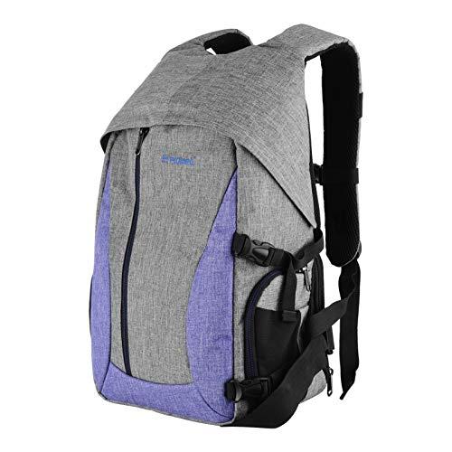Flytise Camera Bag Estuche Impermeable para fotografía a Prueba de Golpes con divisores Desmontables de Bolsillo Lateral y Estuche Interior para Lente de cámara