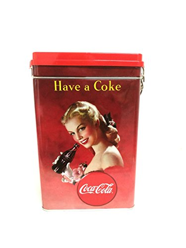 COCA COLA COKE Koffieblik met clip Slogan HAVE in COKE CocaCola