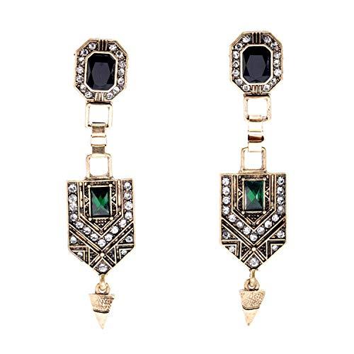 Stilvolle Einfachheit Stilvolle Einfachheit Ohrringe/Schmuck Damen Neue Grüne Glaskegel Lange Stilvolle Einfachheit Ohrringe, MN