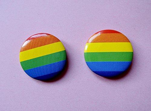 Fantasy Zwei Rainbow-Minibuttons - Regenbogen, Gay, CSD, Queer