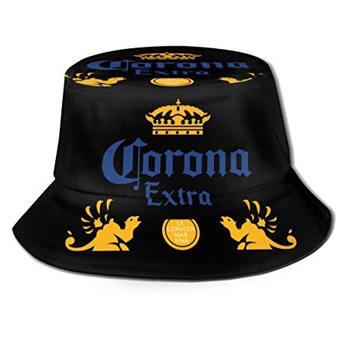 MKH Frenchie Francés Bulldog de lona Cubo de la Sombrero Plegable Primavera Y Verano Viaje Pescador Sombrero de Playa del Sol, color Cerveza Extra Corona, tamaño talla única