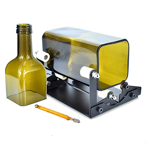BLADOPIA Wine Bottle Cutter & Glass Cutting Kit, DIY Craft Tool for Making Glass Candle Holder, Vase, Chandelier, Wind Chime, Cut Beer, Liquor, Square Whiskey, Alcohol, Champagne Bottles, Mason Jars