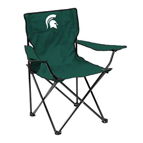 Logo Brands NCAA Michigan State Spartans Adult Unisex Adult Quad Chair with Single Cup Holder, Hunter, One Size
