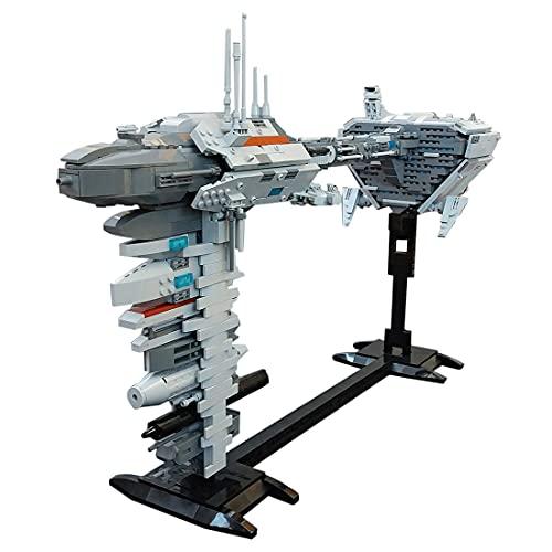 Technic EF76 Nebulon B Escort Fragata con micro Falcon, MBKE 1385pcs MOC-3475 Star Spaceship Building Block Kit, compatible con LEGO Star Wars UCS
