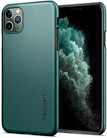 Spigen Thin Fit Designed for iPhone 11 Pro Case (2019) – Midnight Green