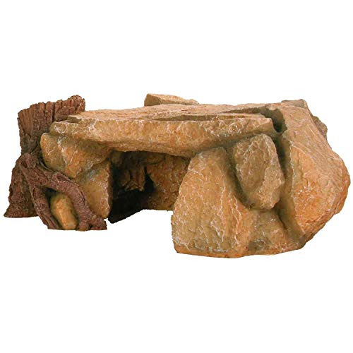 Trixie 8847 Meseta de roca con Tronco de árbol para decoración de Acuario, 25 cm