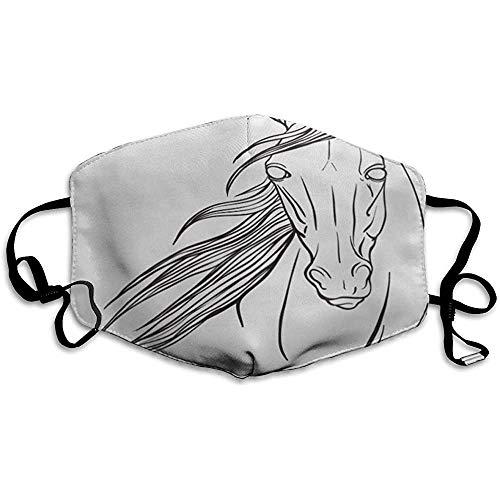 FANCYDAY Mond Maskers, Multifunctionele Maskers Hoofd Paard Portret Kleurplaten Tekenen Volwassen Dier Antistress Boek