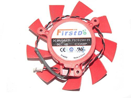 firstd 65mm fd7015h12s 12V 0,43A 2Draht für XFX HD 58505830HD4850Klinge Fan